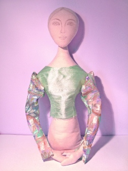 Art Muse doll by Marina Elphick. Art dolls uniquely hand designed.