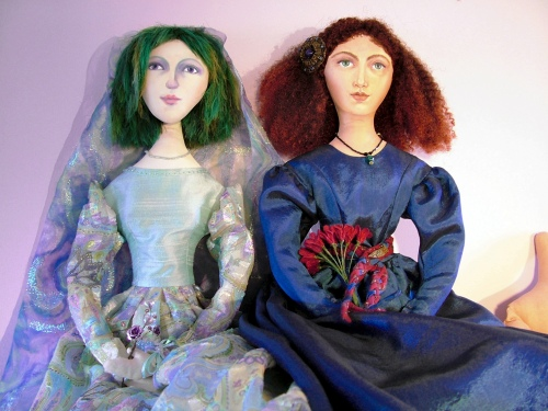 Art Muse doll by Marina Elphick. Art dolls uniquely hand designed, commissions taken.