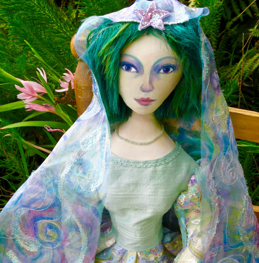 marina Elphick's art muse dolls, individually hand made in the finest fabrics.