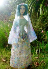 Art Muse doll by Marina Elphick. Art doll inspired by muses, individually hand made by UK artist Marina Elphick.
