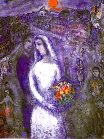 Wedding Couple, by Chagall.