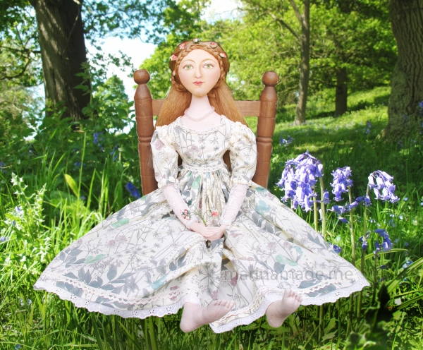Marina's muses, individually hand made creations. Marina's muses are inspired by artists models, individually hand made using fine cotton lawns and silksArt Muses, art-dolls inspired by artist's paintings, by Marina Elphick.