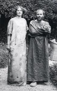 Photo of Emilie Flöge and Gustav Klimt.
