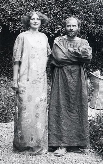 Photo of Emilie Flöge and Gustav Klimt.