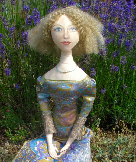 Art Muse inspired by Klimt's paintings, by Marina Elphick. Handmade from finest hand dyed silks and cottons.