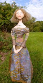 Art muses inspired by artist's paintings, by Marina Elphick, handmade from finest hand dyed silks and cottons.