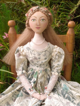 Marina's muses, individually hand made creations. Marina's muses are inspired by artists models, individually hand made using fine cotton lawns and silks. Art Muses, art-dolls inspired by artist's paintings, by Marina Elphick.