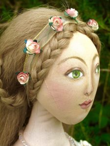 Marina's muses, individually hand made creations. Marina's muses are inspired by artists models, individually hand made using fine cotton lawns and silks.Art Muses, art-dolls inspired by artist's paintings, by Marina Elphick.