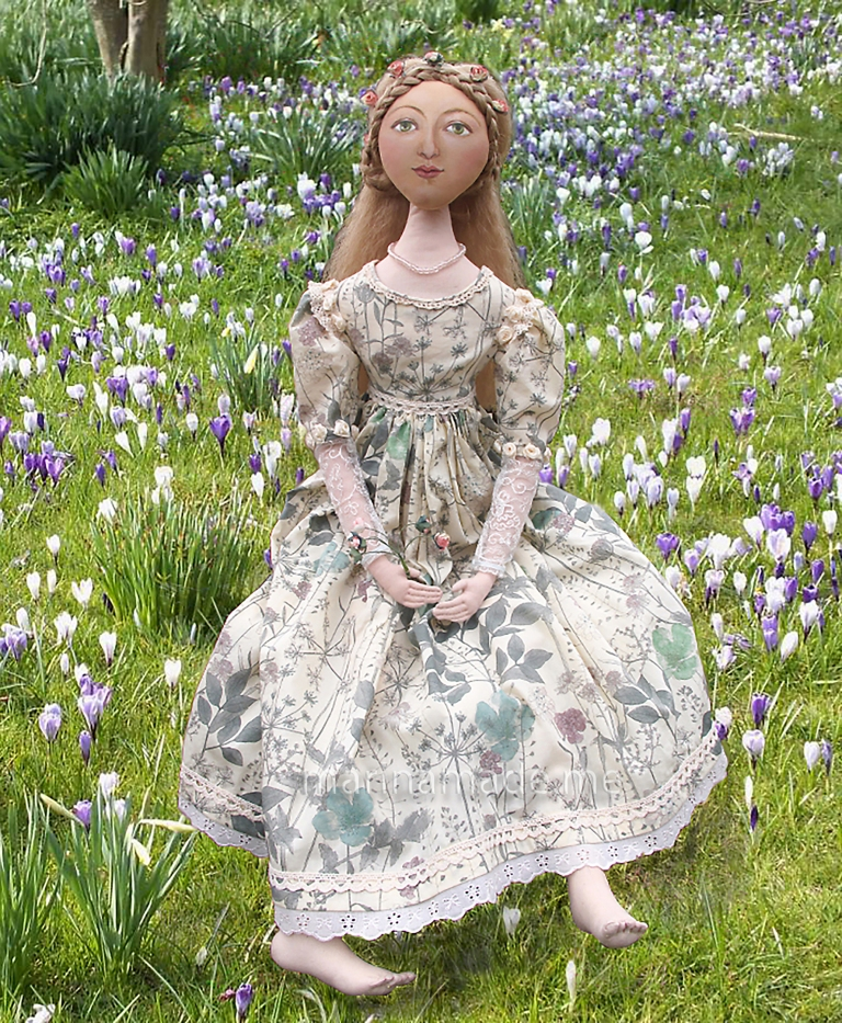 Marina's muses, individually hand made creations Marina's muses are inspired by artists models, individually hand made using fine cotton lawns and silks.Art Muses, art-dolls inspired by artist's paintings, by Marina Elphick