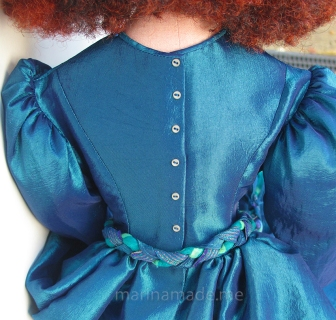 Jane Morris muse doll in the making,hand made by Marina Elphick