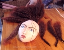 Jane Morris muse doll in the making.hand made by Marina Elphick