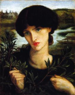 Painting of Jane Morris by Dante Gabriel Rossetti 1871. Reference for Marina's Muses.