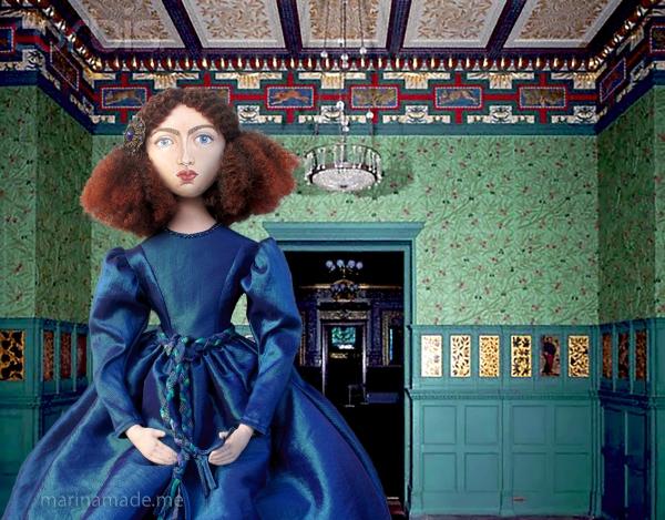 Jane Morris muse, Rossetti's lover. Art muse by Marina Elphick, UK artist.