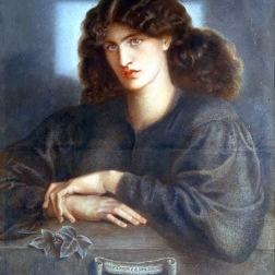 La Donna della Finestra, by DG Rossetti 1871. Coloured chalks on paper.