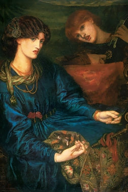Painting of Jane Morris by Dante Gabriel Rossetti 1870. Reference for Marina's Muses.
