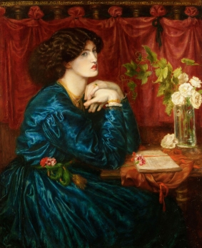 Painting of Jane Morris by Dante Gabriel Rossetti 1868. Reference for Marina's Muses. Morris, Marina's Muses at marinamade.me