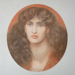 Drawing of Jane Morris by Dante Gabriel Rossetti 1878. Reference for Marina's Muses.