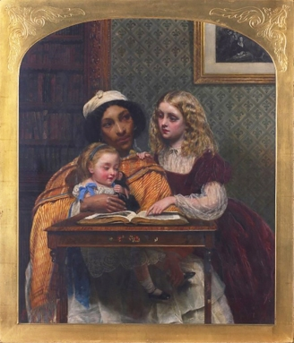 "Fanny modelling in ""A young teacher"" by Simeon Solomon 1861"