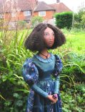 Fanny Eaton, one of Marina's muses. Art Muse, art-dolls inspired by artist's paintings by Marina Elphick.