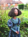 Fanny Eaton, one of Marina's muse dolls. Art Muse, art-dolls inspired by artist's paintings by Marina Elphick.