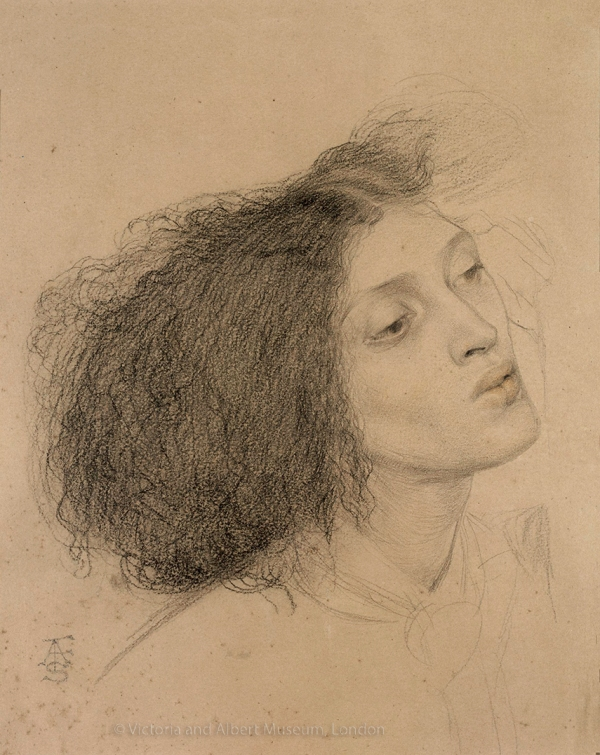 Recently discovered drawing by Frederick Sandys of Fanny Eaton.