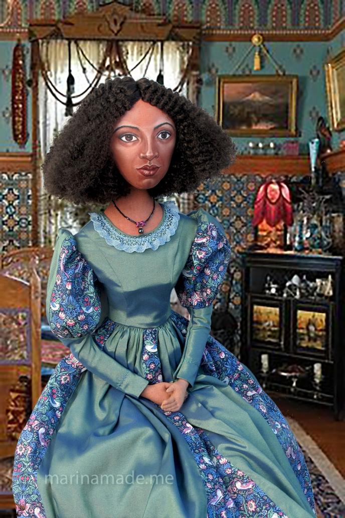 Fanny Eaton, one of Marina's muses, an individually hand made art doll.