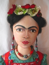 Marina's Frida art muse, Handmade using vintage, hand dyed and Liberty cottons.