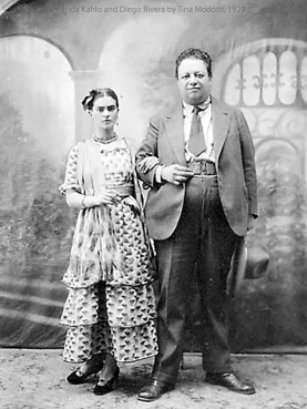 Frida and Diego in 1929, the year they married.
