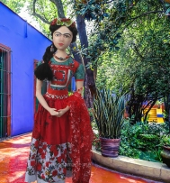 Frida Kahlo art muse by Marina. Frida Kahlo, one of Marina's Muses, soft sculpted icon of art.