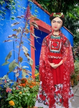 Frida muse in Tehuana style dress.
