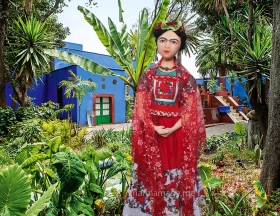 Frida Kahlo art muse by Marina.