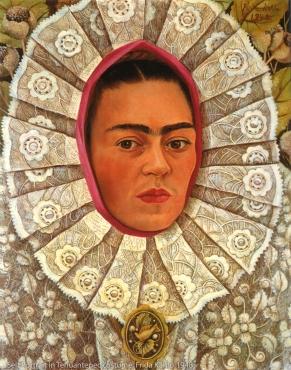Frida Kahlo, 1948, wearing traditional Tehuantepec costume.