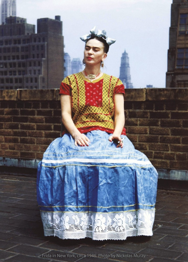 Photo of Frida in New York 1946.