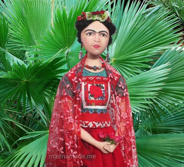 Frida Kahlo muse by fan palms