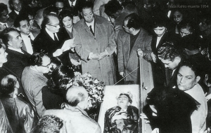 News photograph of Frida's funeral.