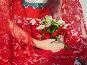 Detail of Frida's hands, Frida muse.