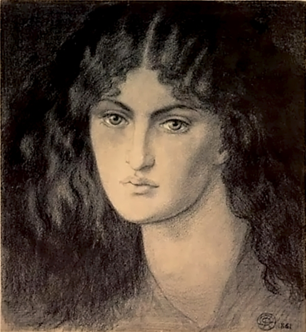 Pre-Raphaelite muse, inspiration for art muse by Marina.