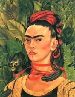 Self Portrait with Monkey, 1940.