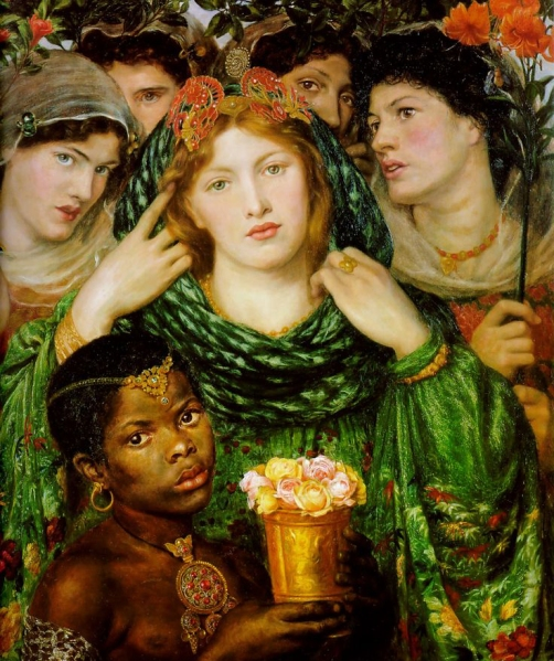 "The Beloved"", oil painting by Dante Gabriel Rossetti 1866."