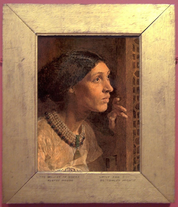 The mother of Sisera looking out of the window, an early painting by Albert Moore.