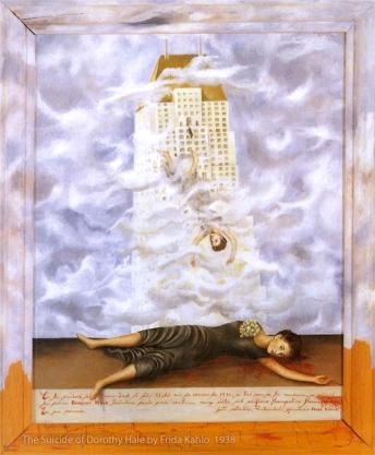 The Suicide of Dorothy Hale, Frida Kahlo 1938.