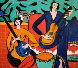 La Musique, Henri Matisse, 1939, inspiration for Matisse muse, Lydia.