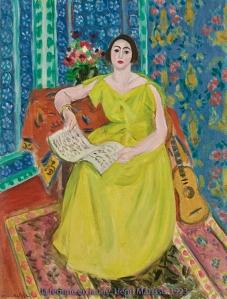 'La Femme en Jaune' by Henri Matisse, 1923.
