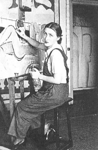 Lydia Painting in Matisse's studio.