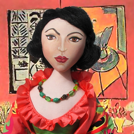 Matisse muse, made by Marina, in 'Gran Interior en Rojo', a painting by Henri Matisse.