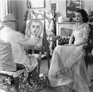 Matisse Drawing Lydia in a long dress.