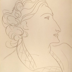 Matisse Henri - Woman in Profile (Portrait of Lydia Delectorskaya)