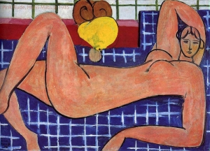 Pink Nude, 1935 Henri Matisse. Lydia Delectorskaya, was the model for this painting.