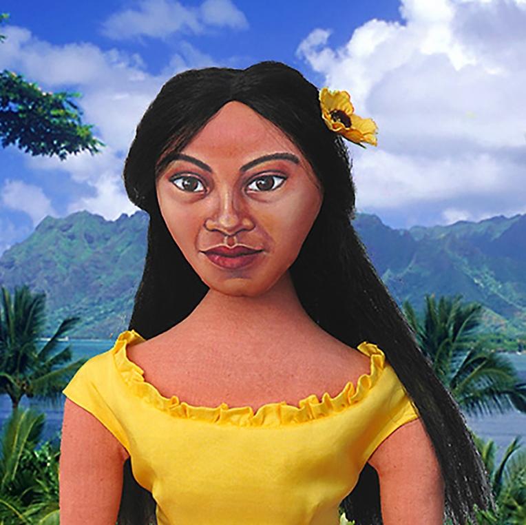 Teha'amana, Gauguin's muse. Art muse made by Marina.