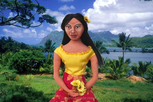 Teha'amana, Gauguin's muse, art muse made by Marina Elphick